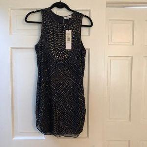 Parker Brand New Size S Phantom Beaded dress